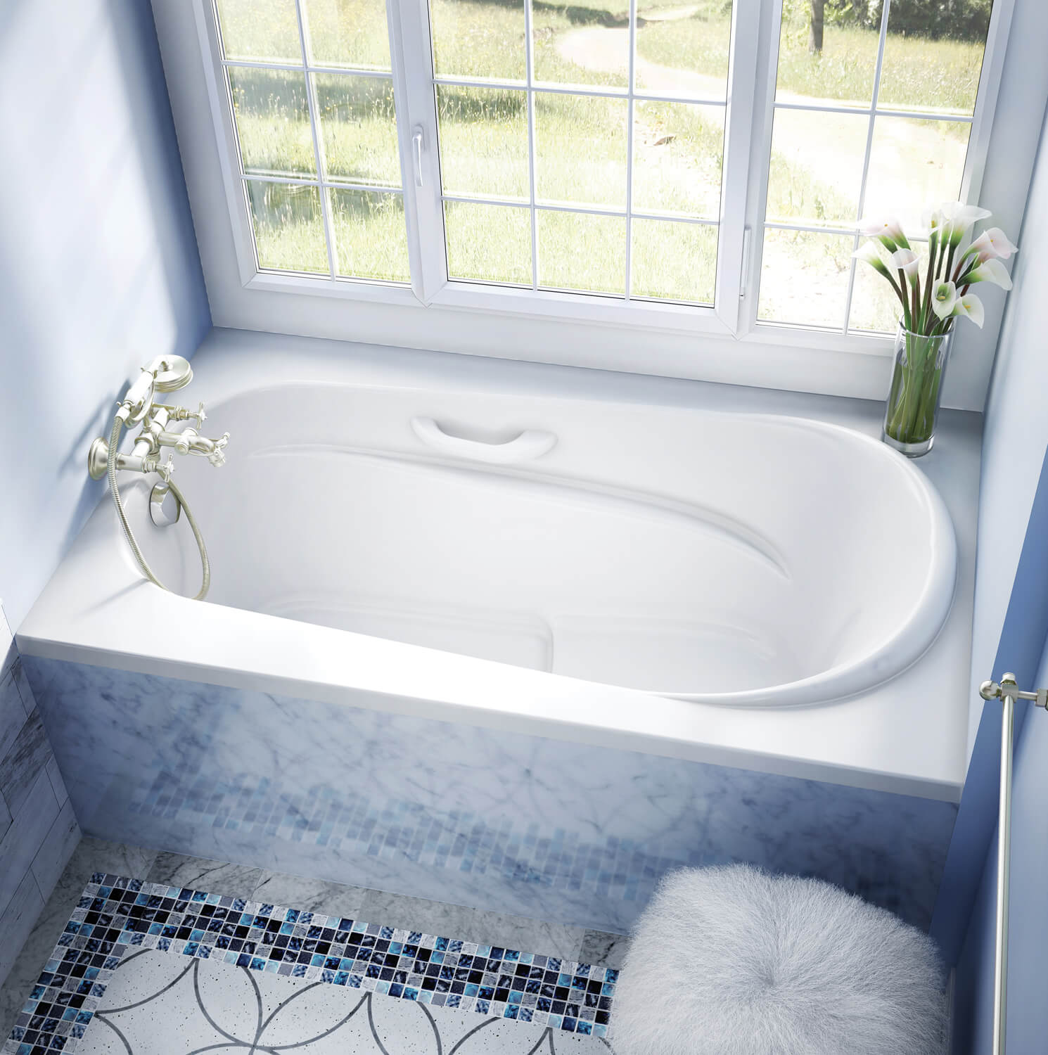 Bainultra Amma® 6036 alcove drop-in air jet bathtub for your modern bathroom