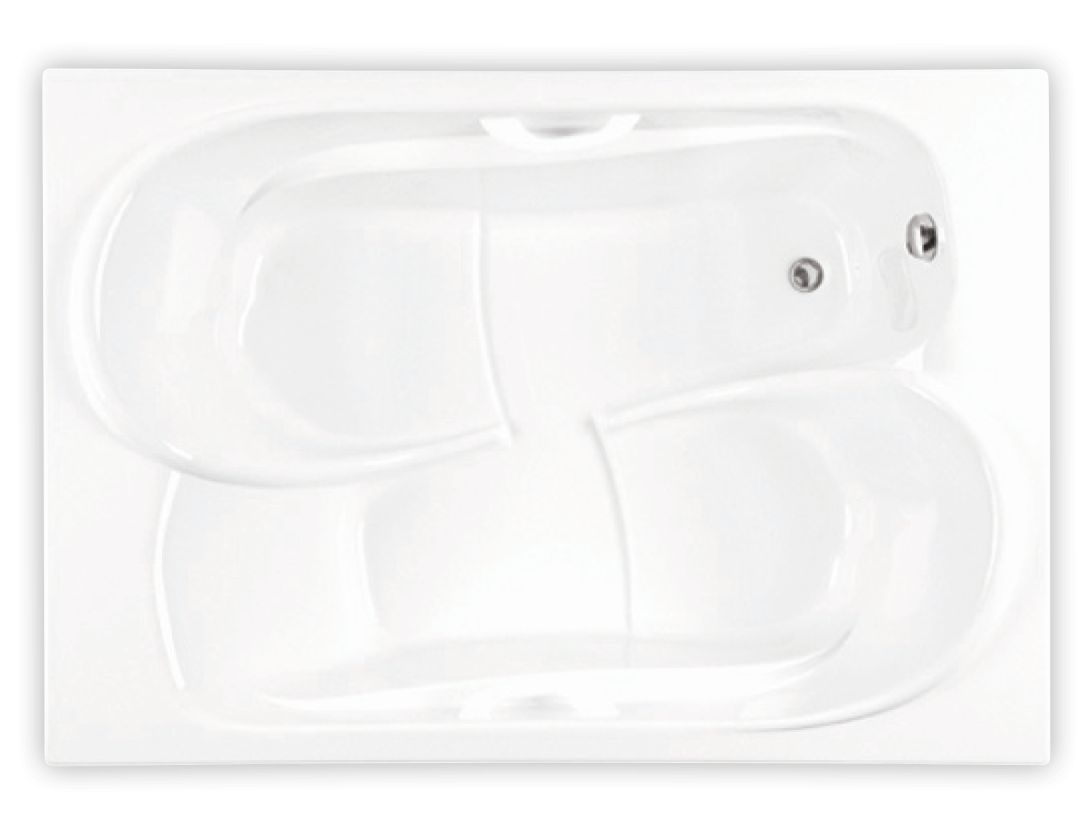 Bainultra Amma® 7048 drop-in air jet bathtub for two persons