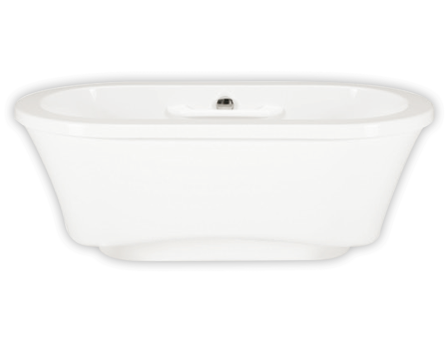 Bainultra Amma® OVAL 7242 freestanding narrow base air jet bathtub for two