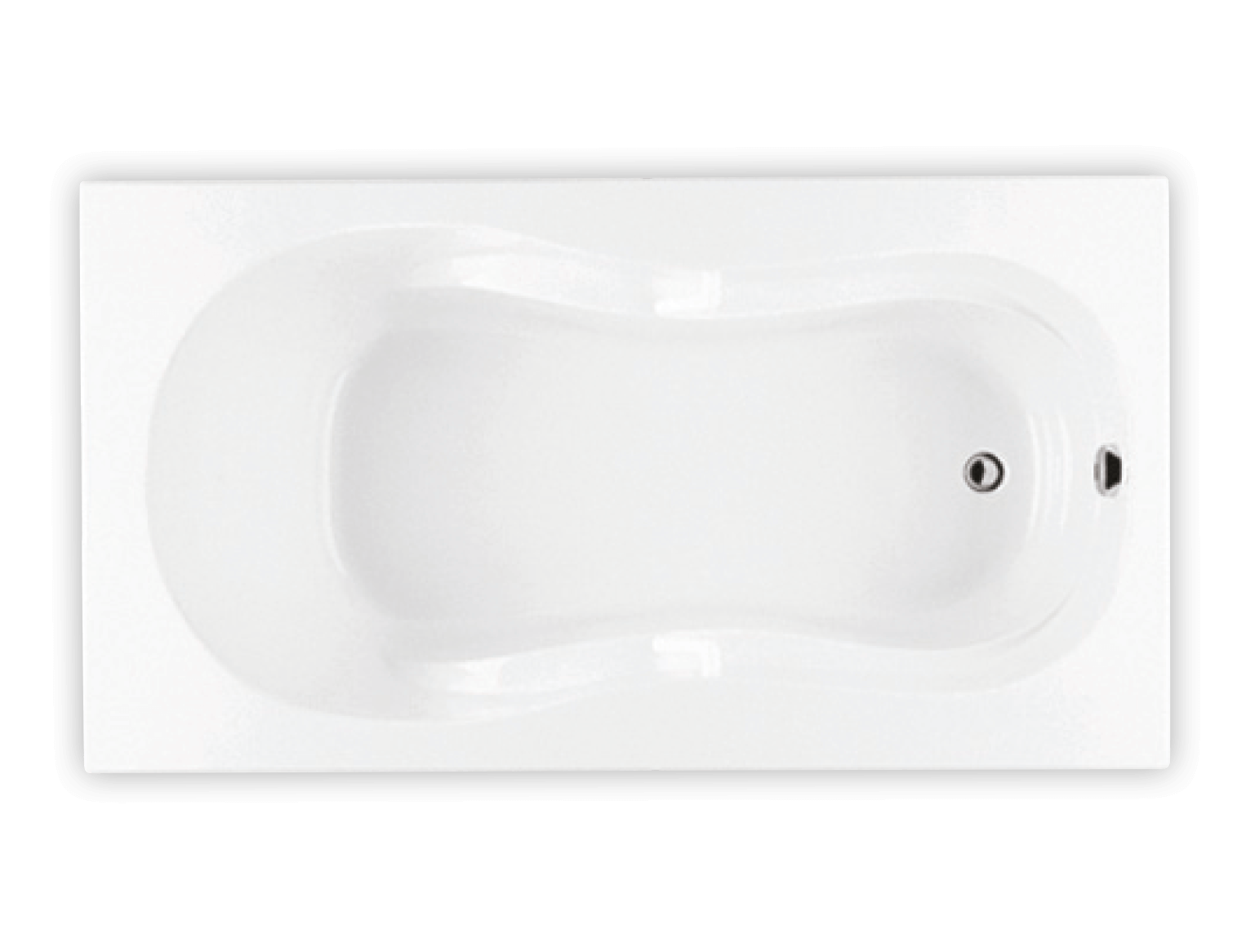 Bainultra Azur 60 collection alcove drop-in air jet bathtub for your modern bathroom
