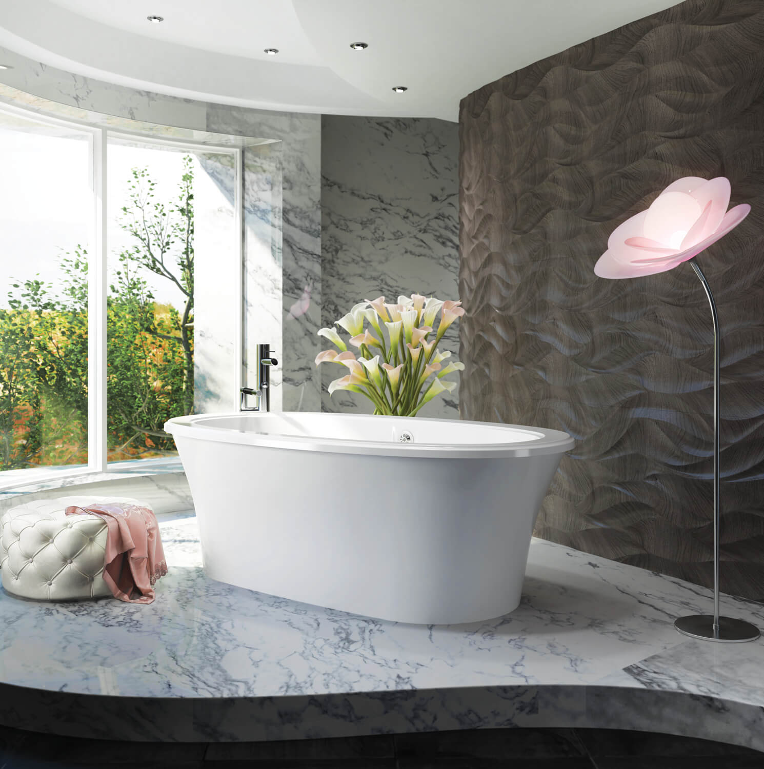 Bainultra Sanos 6636 freestanding air jet bathtub for your modern bathroom
