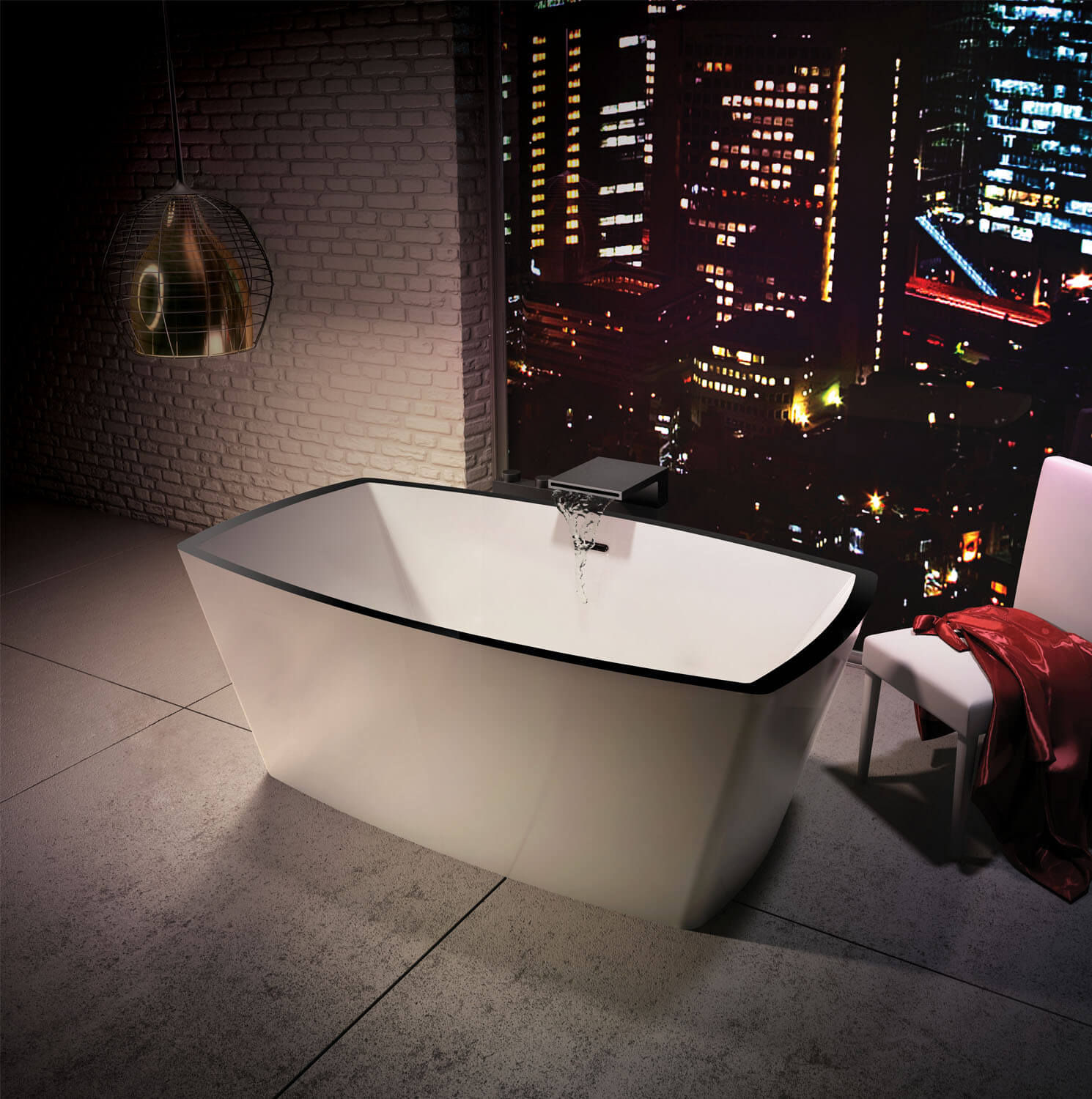 Bainultra Charism 6434 two person freestanding air jet bathtub for your master bathroo