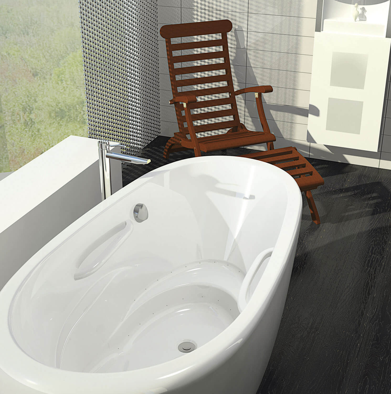 Bainultra Essencia Oval 7236 freestanding air jet bathtub for your modern bathroom