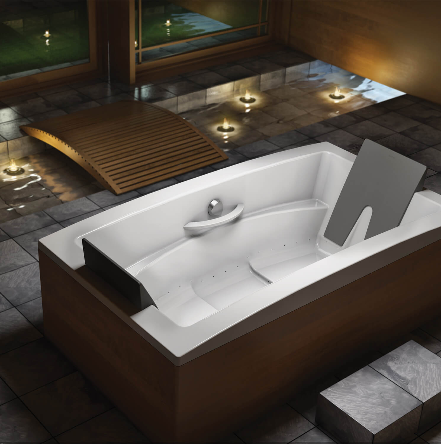 Bainultra Inua® 7240 two person drop-in air jet bathtub for your modern bathroom