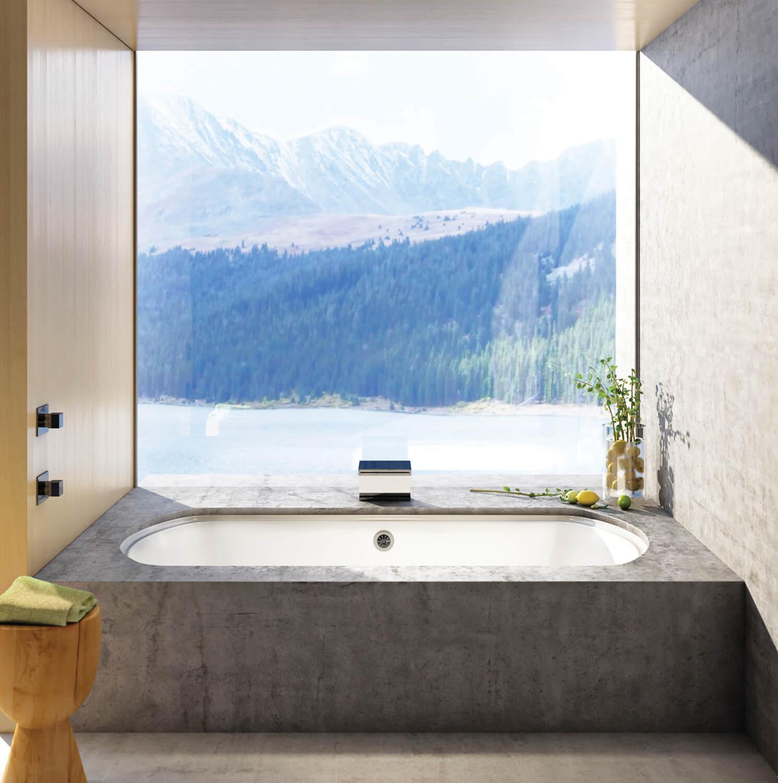 Bainultra Meridian® 50 alcove drop-in air jet bathtub for your modern bathroom