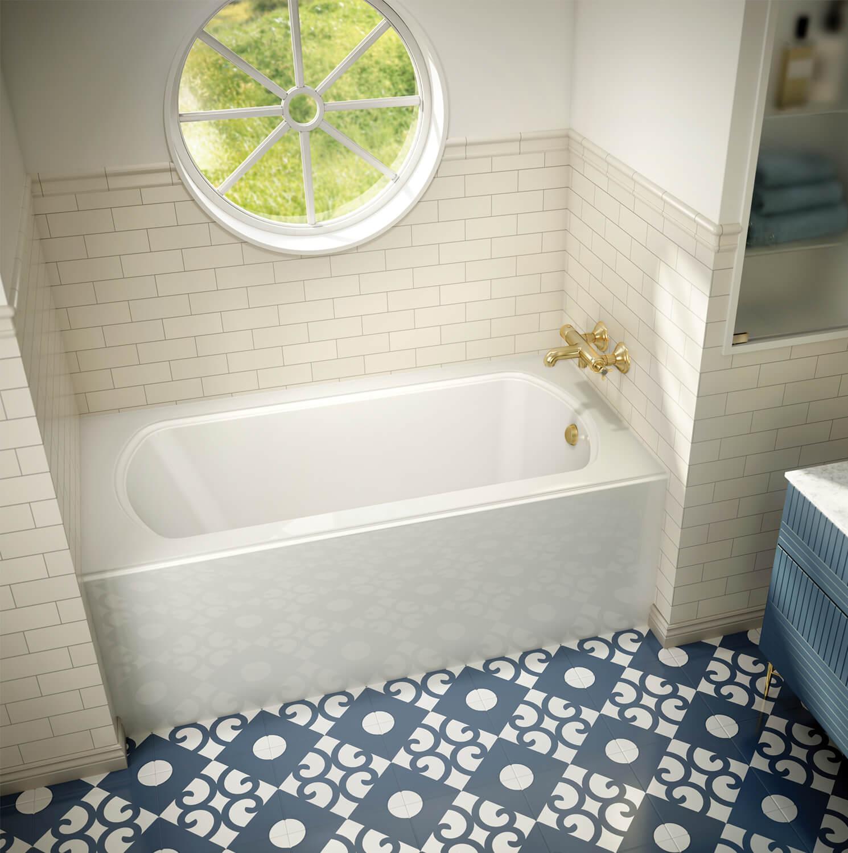 Bainultra Meridian® UNO alcove air jet bathtub for your modern bathroom