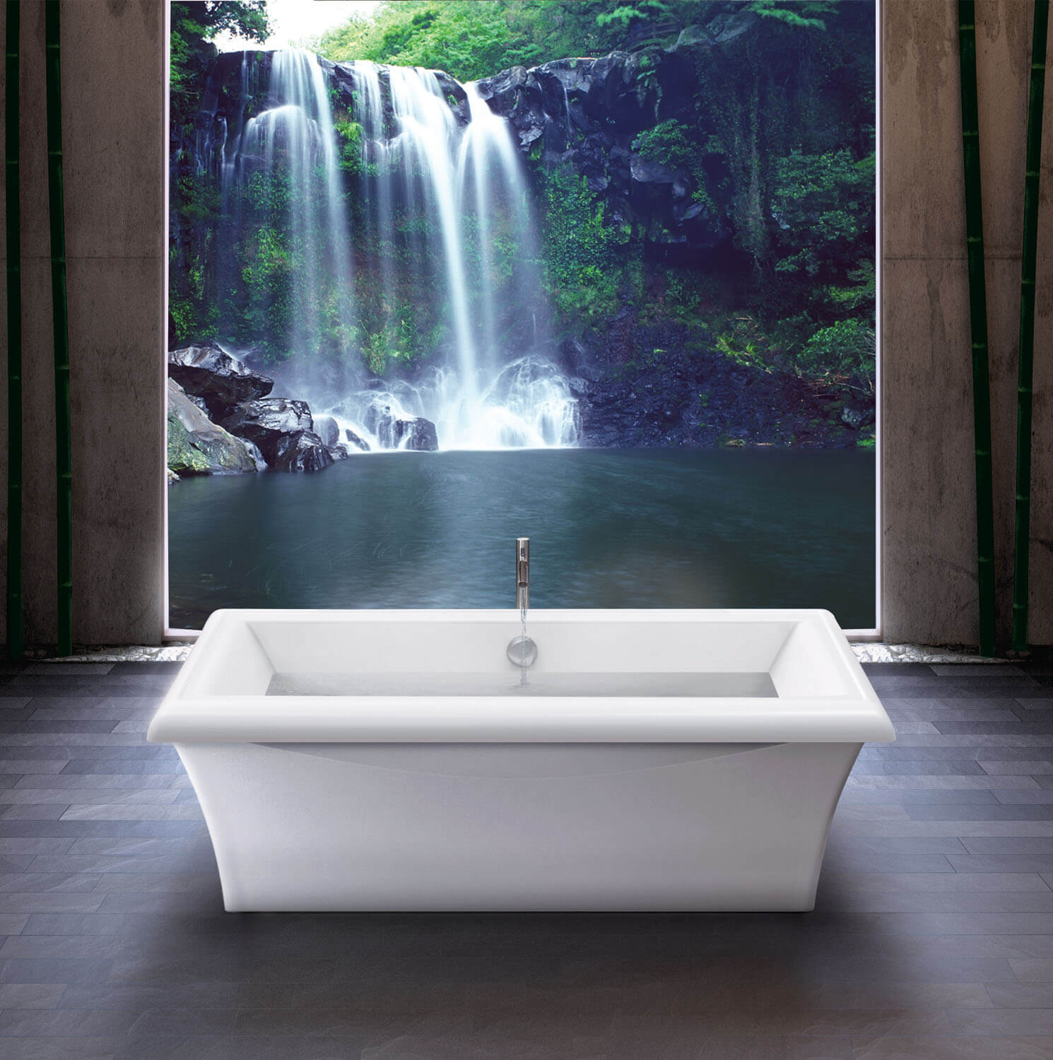 Bainultra Origami® 6838 Design Series freestanding air jet bathtub for your modern bathroom
