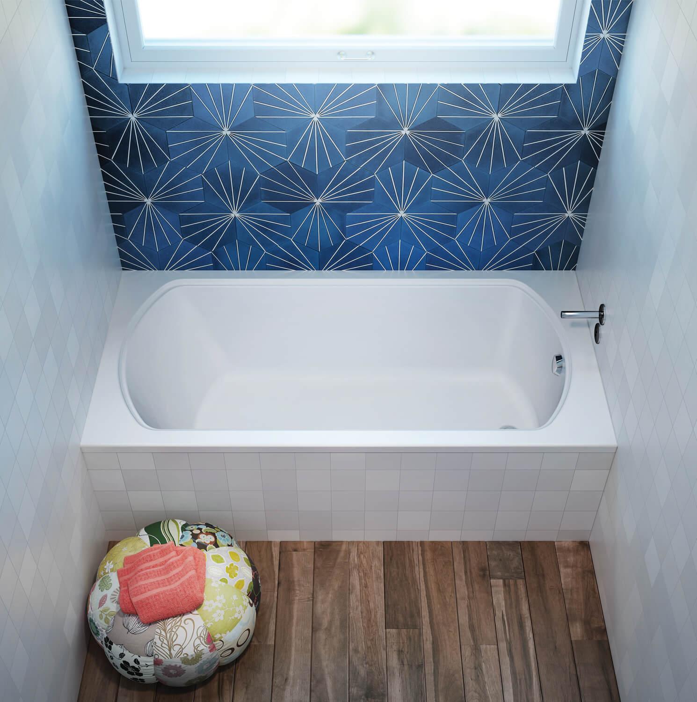 Bainultra Pro-Meridian 60 alcove drop-in air jet bathtub for your modern bathroom