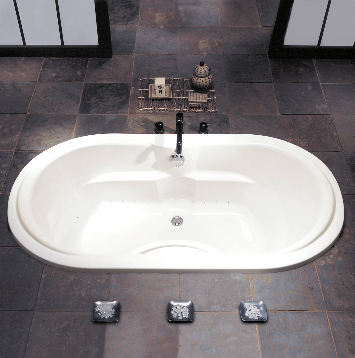 Bainultra Thermal 55 Oval two person drop-in air jet bathtub for your modern bathroom