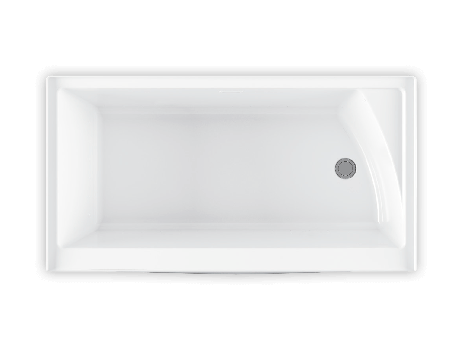 Bainultra Citti® collection freestanding alcove air jet bathtub for your modern bathroom