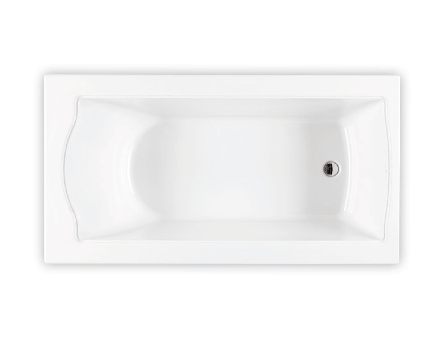 Bainultra Elegancia® collection freestanding alcove air jet bathtub for your modern bathroom