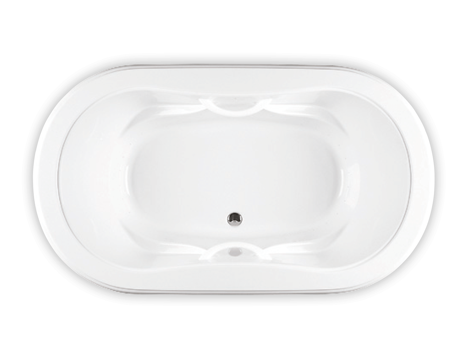 Bainultra Elegancia 7236 two person large air jet bathtub for your master bathroom
