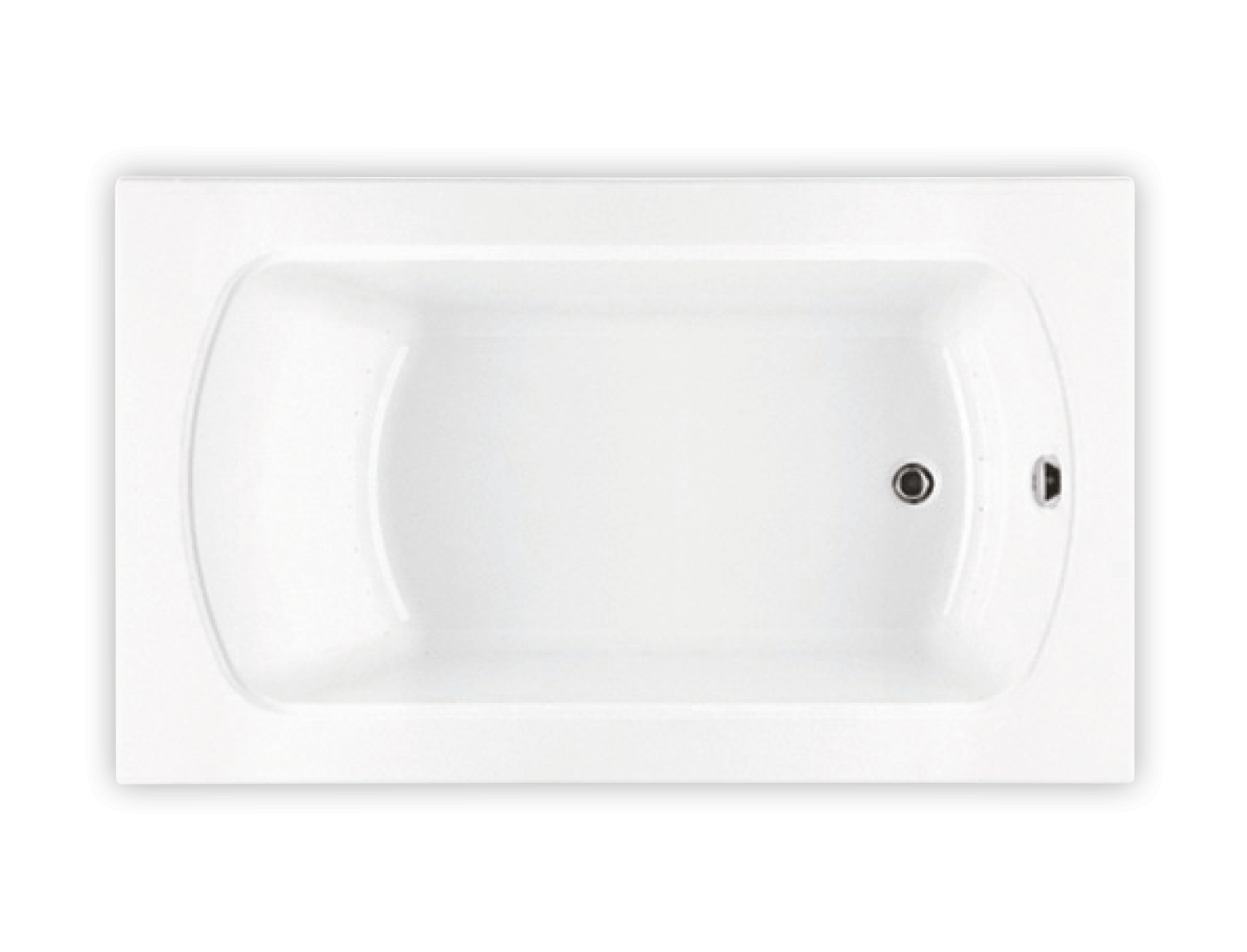 Bainultra Meridian® 6042 alcove drop-in air jet bathtub for your modern bathroom
