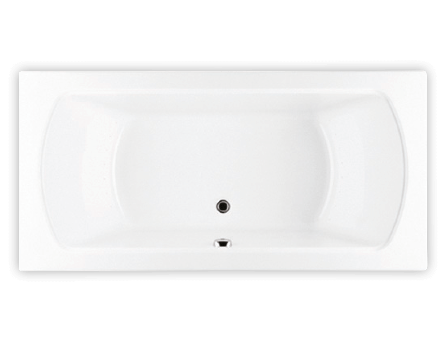 Bainultra Meridian® 60 two person large air jet bathtub for your modern bathroom