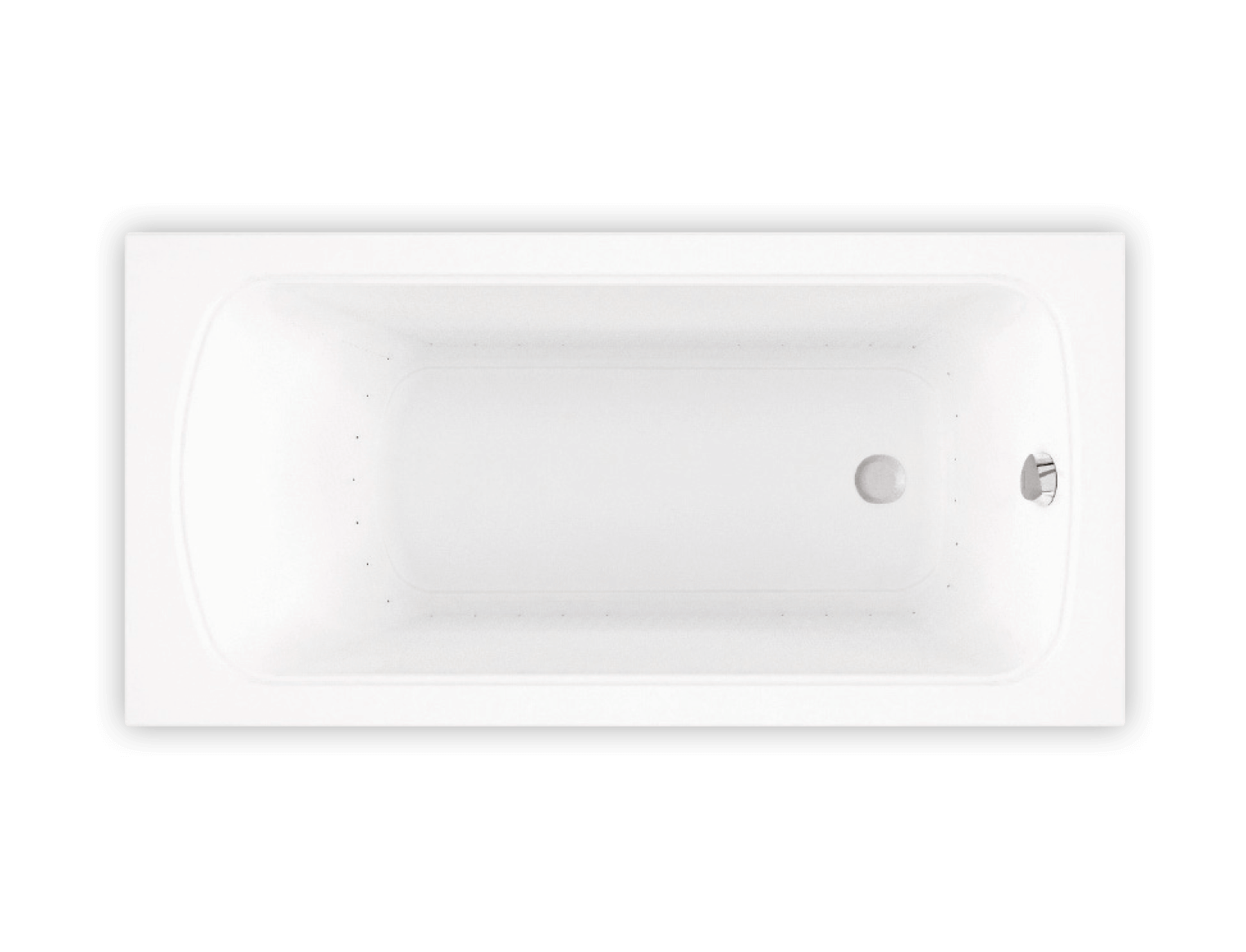 Bainultra Meridian® 6030 alcove drop-in air jet bathtub for your modern bathroom