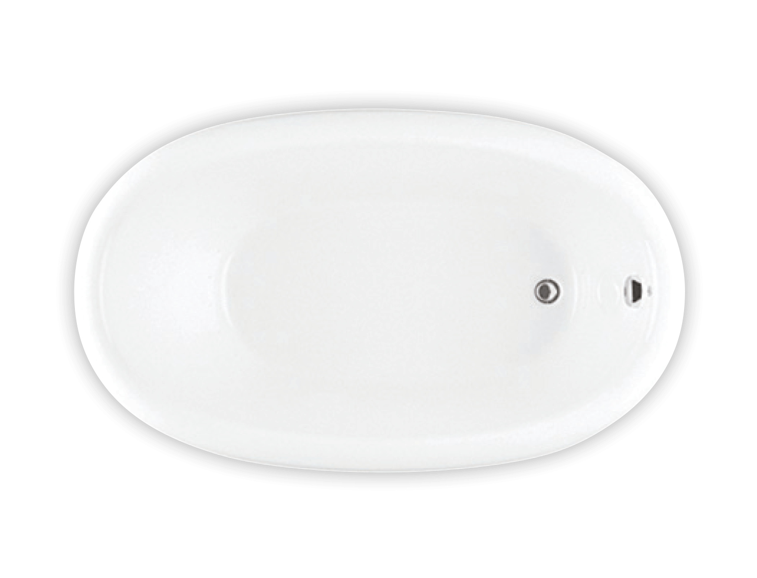 Bainultra Ellipse® 6036 drop-in air jet bathtub for your modern bathroom