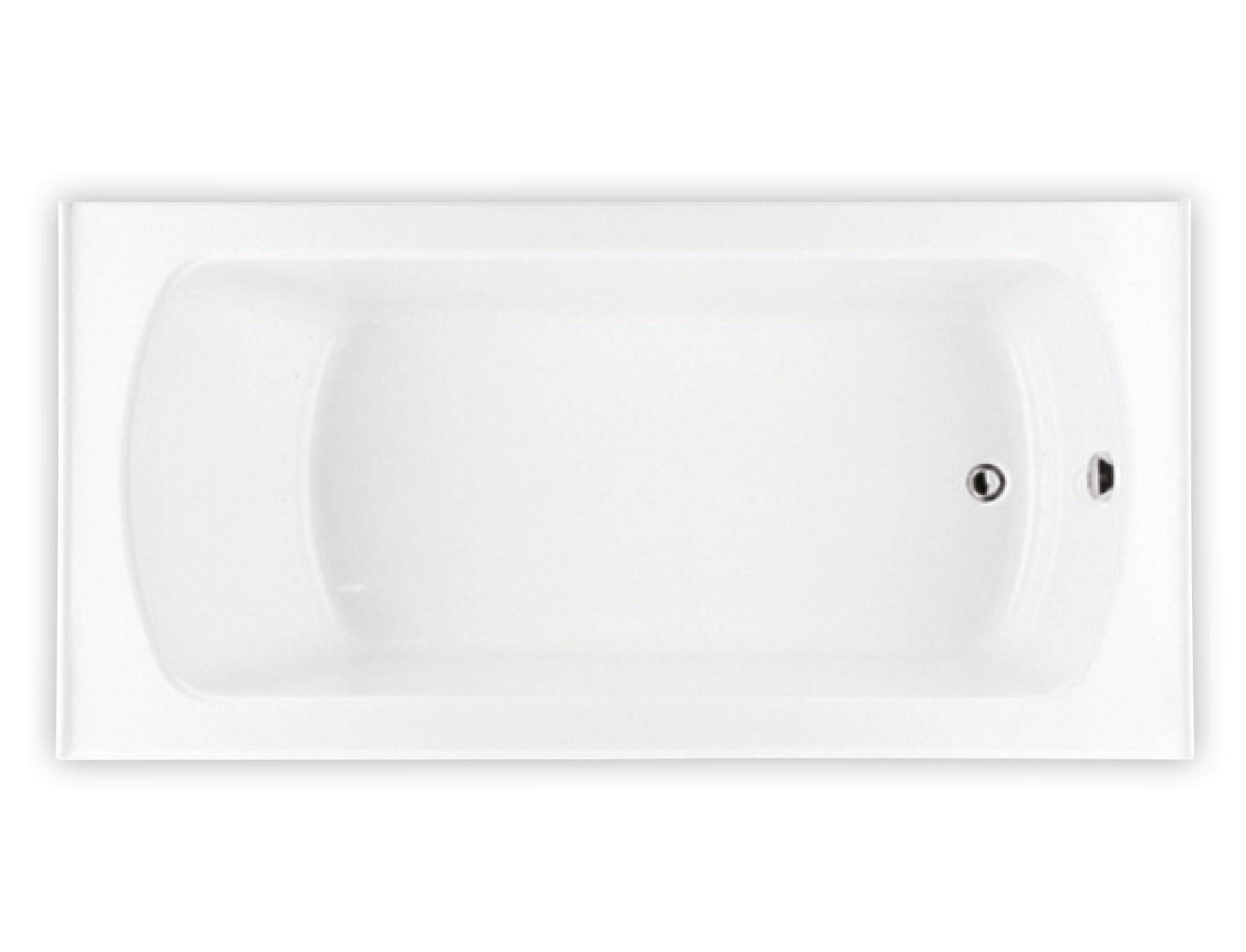Bainultra Pro-Meridian 60 alcove drop-in air jet bathtub for your modern bathroom
