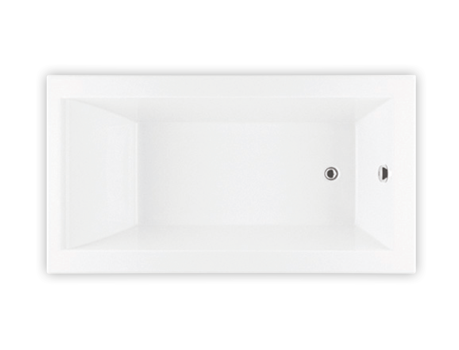 Bainultra Origami® 6030 alcove drop-in air jet bathtub for your modern bathroom