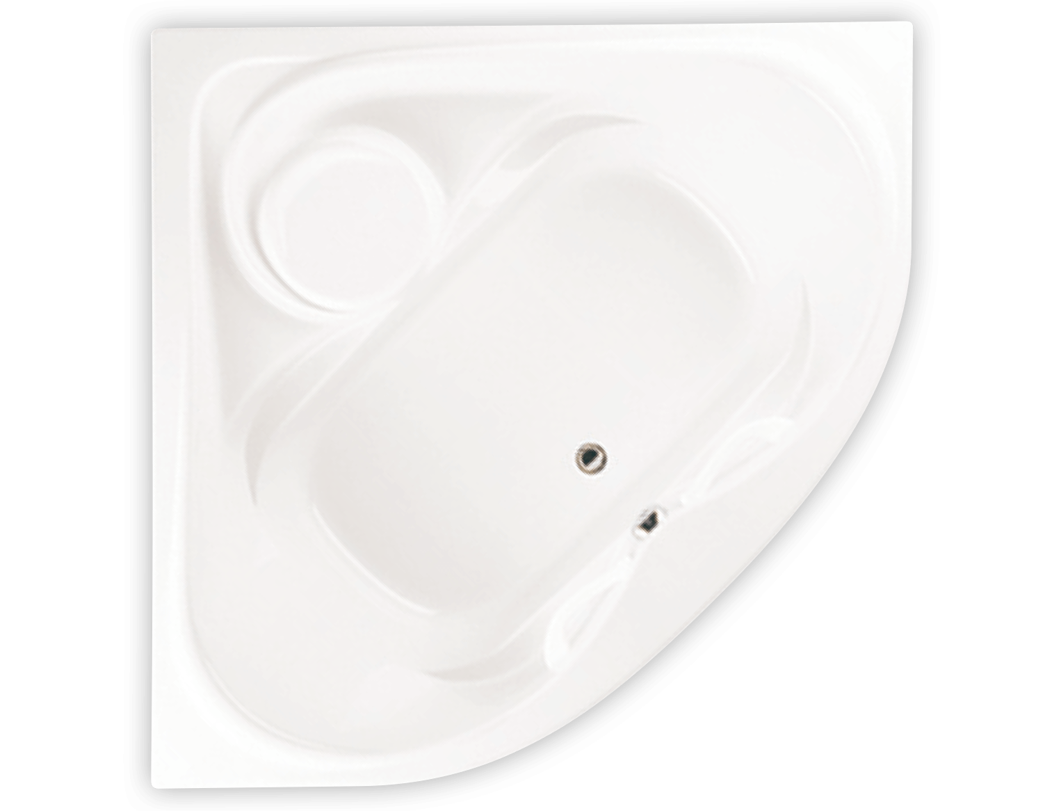 Bainultra Thermal CR2K two person large corner drop-in air jet bathtub for your modern bathroom