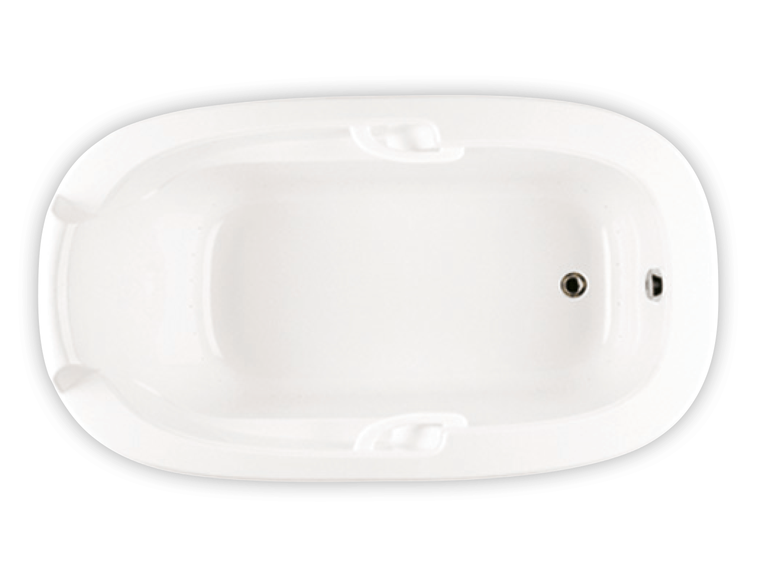 Bainultra Oval Plus drop-in air jet bathtub for your modern bathroom