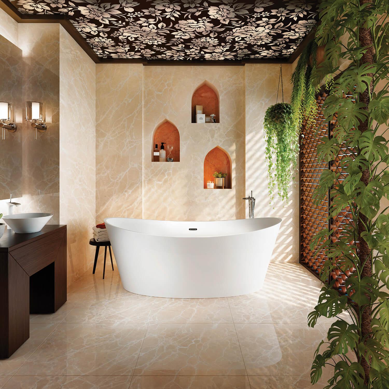Bainultra Evanescence® 7440 freestanding air jet bathtub for your modern bathroom