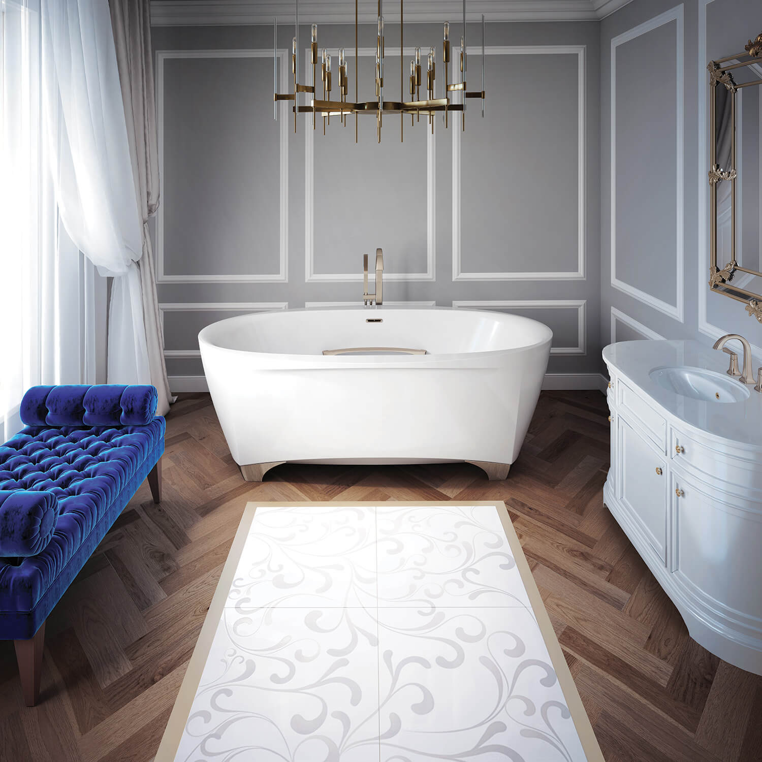 Scala 7242 air jet bathtub for your modern bathroom