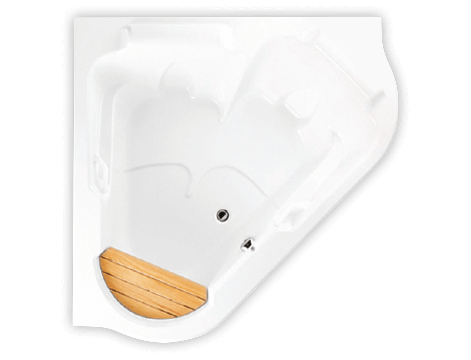 Bainultra TMU 6060 two person corner drop-in air jet bathtub for your modern bathroom