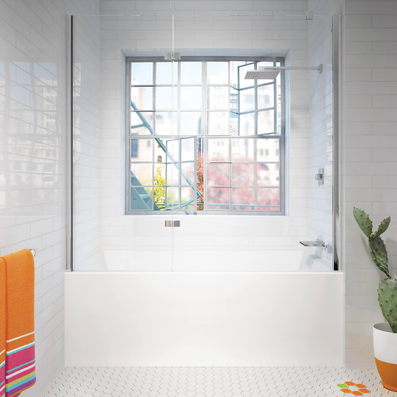 Citti 6032 Front overflow air jet bathtub for your modern bathroom