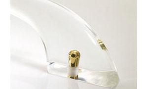Clear acrylic grab bars