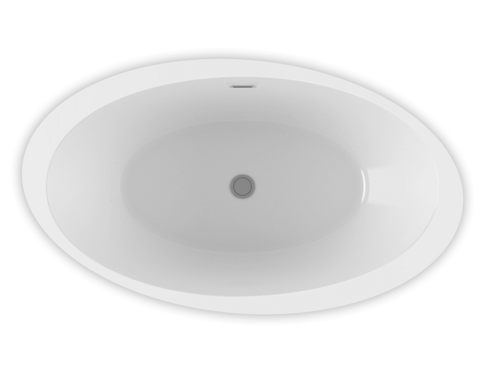 Opalia 6839 Oblique Ellipse Left air jet bathtub for your modern bathroom