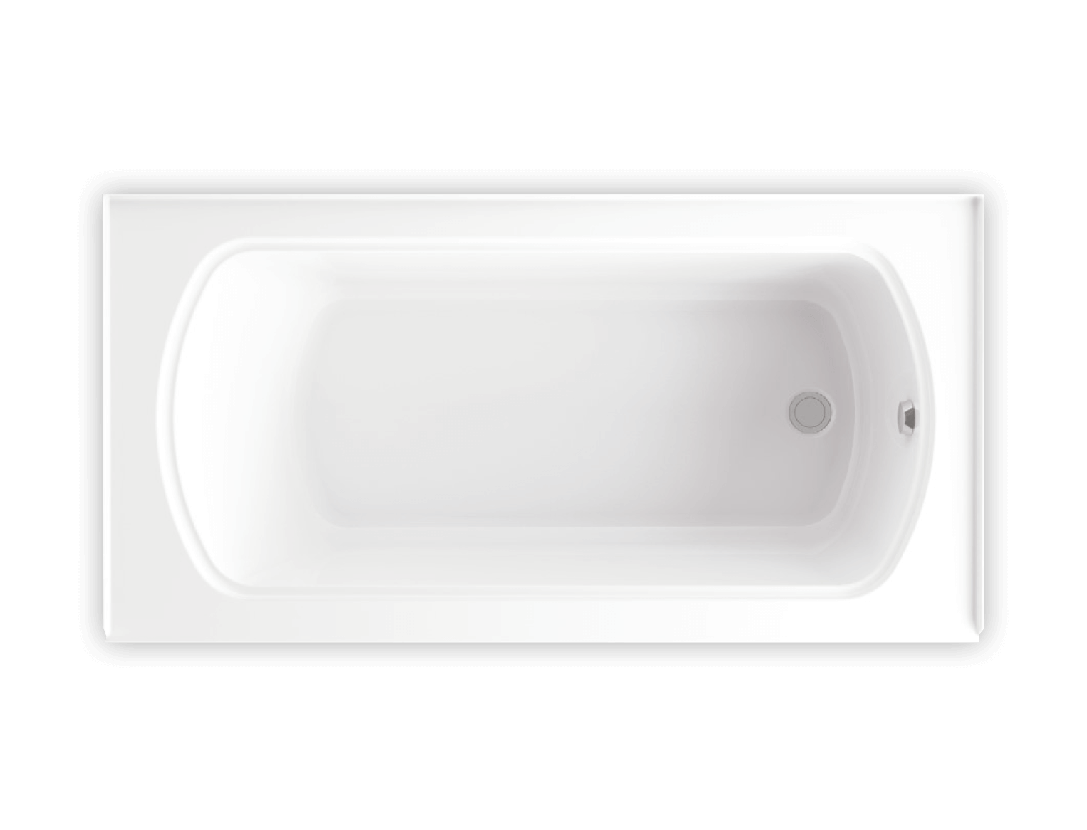 Bainultra Meridian® DUO alcove air jet bathtub for your modern bathroom