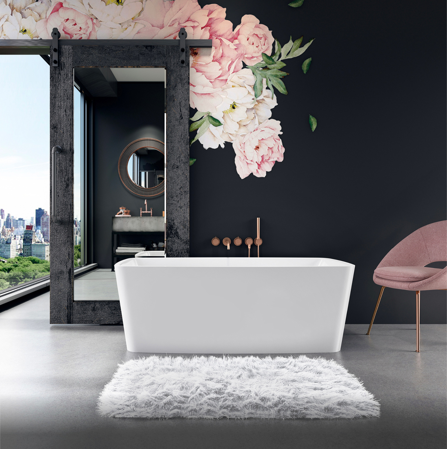 Bainultra Vibe® 5828 Fresstanding air jet bathtub for your modern bathroom