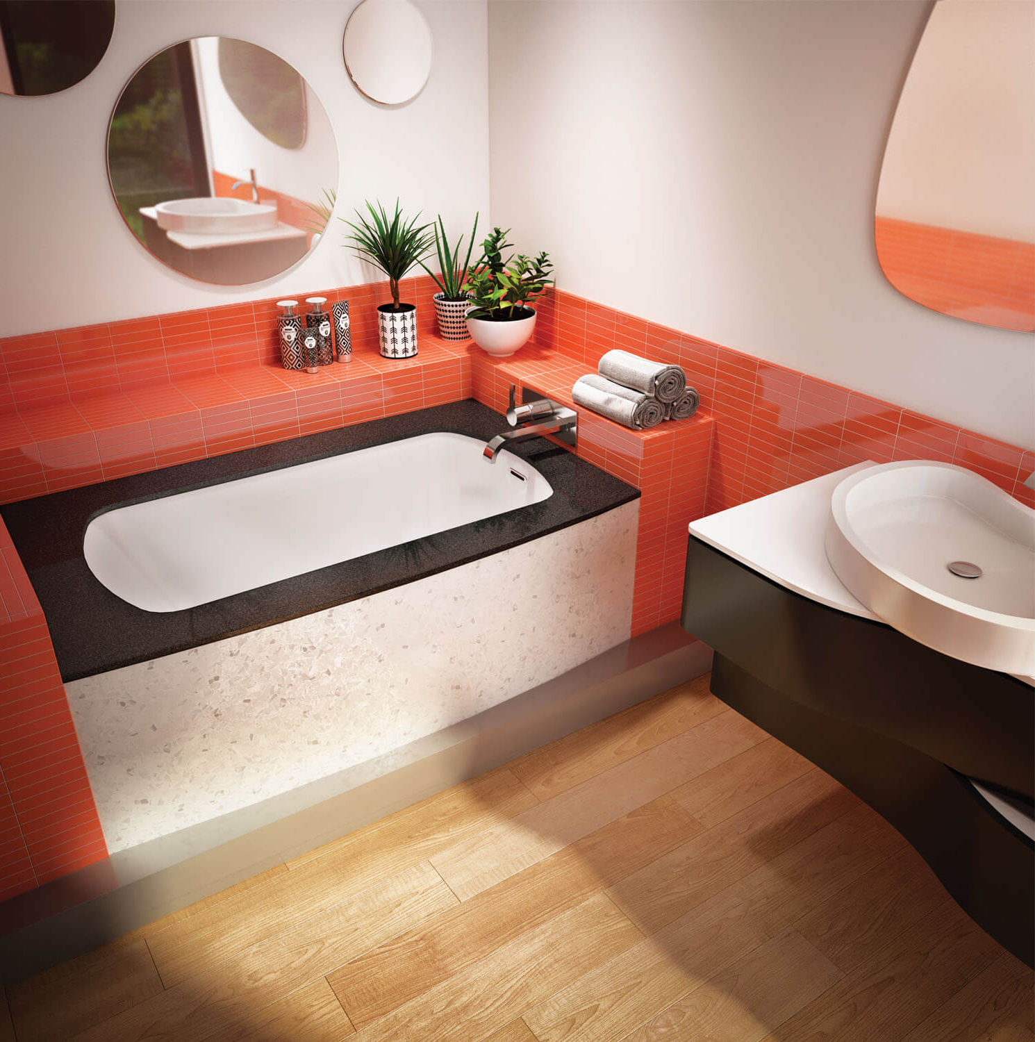 Monarch 6037R air jet bathtub for your modern bathroom