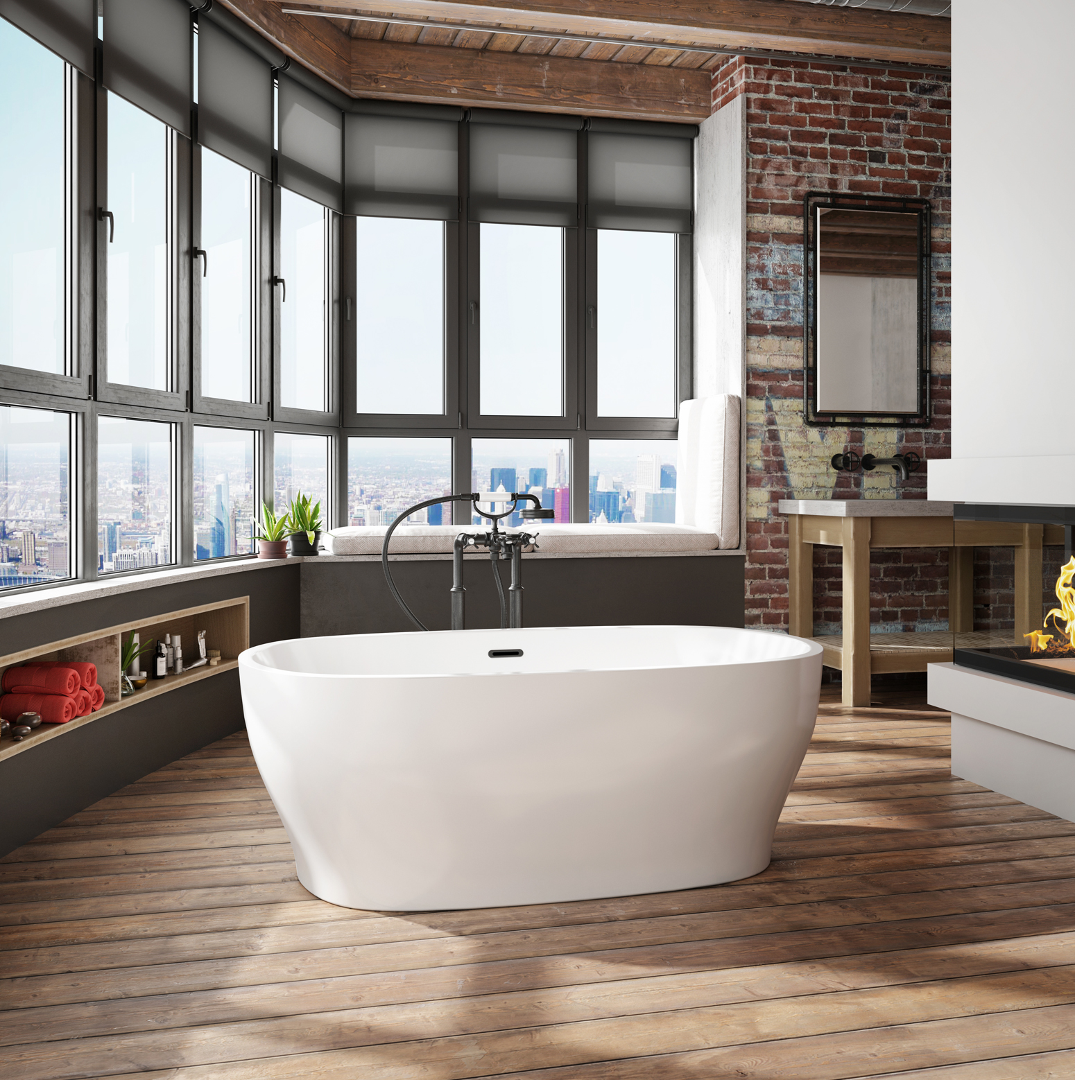 Vibe freestanding bathtub for your master bathroom