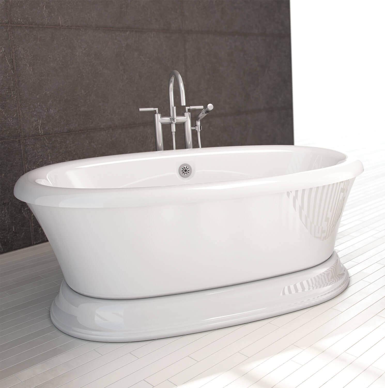 Bainultra Naos 6636 freestanding pedestal air jet bathtub for your modern bathroom