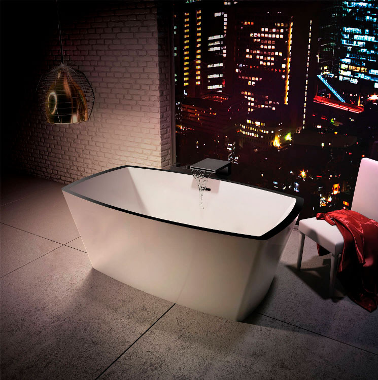 Bainultra Charism 6434 two person freestanding air jet bathtub for your master bathroom