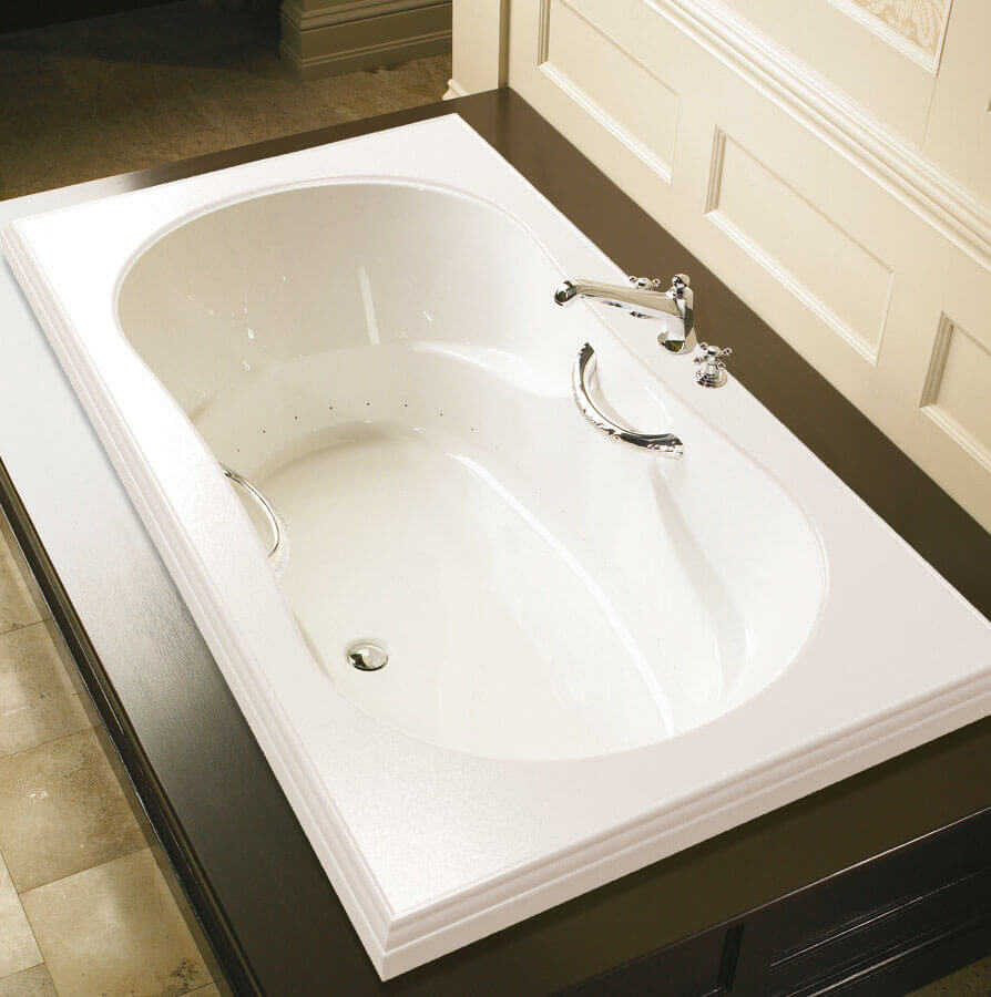 Bainultra Elegancia 6636 alcove drop-in air jet bathtub for your Victorian bathroom