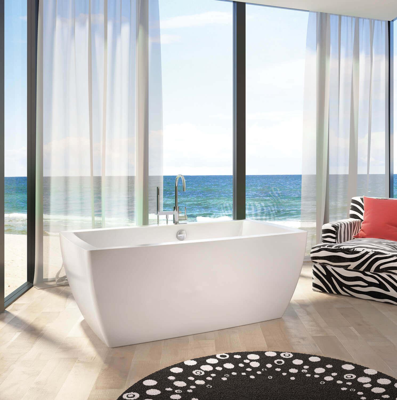 Bainultra Essencia 6838 freestanding air jet bathtub for your modern bathroom