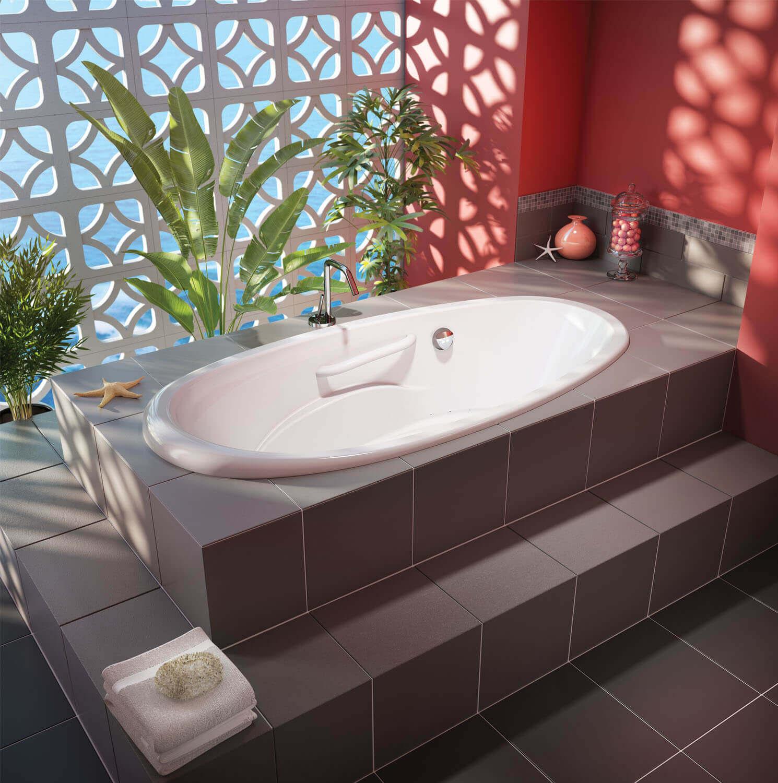 Essencia Oval 7236 air jet bathtub for your master bathroom