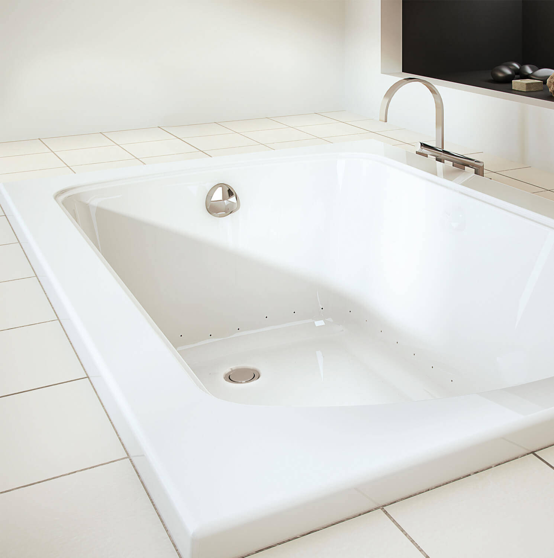 Bainultra Meridian® 6032 alcove drop-in air jet bathtub for your modern bathroom