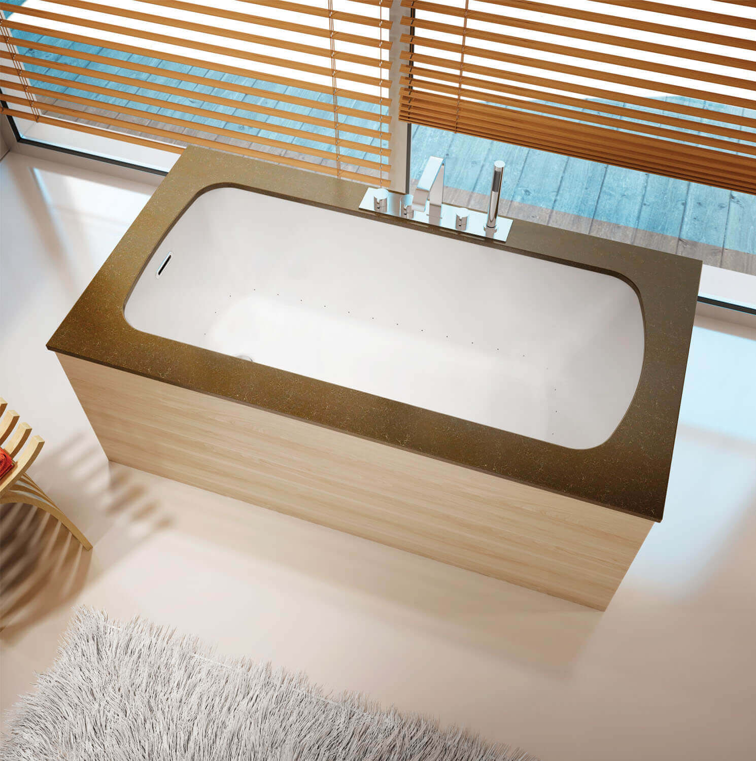 Monarch 6035 air jet bathtub for your modern bathroom