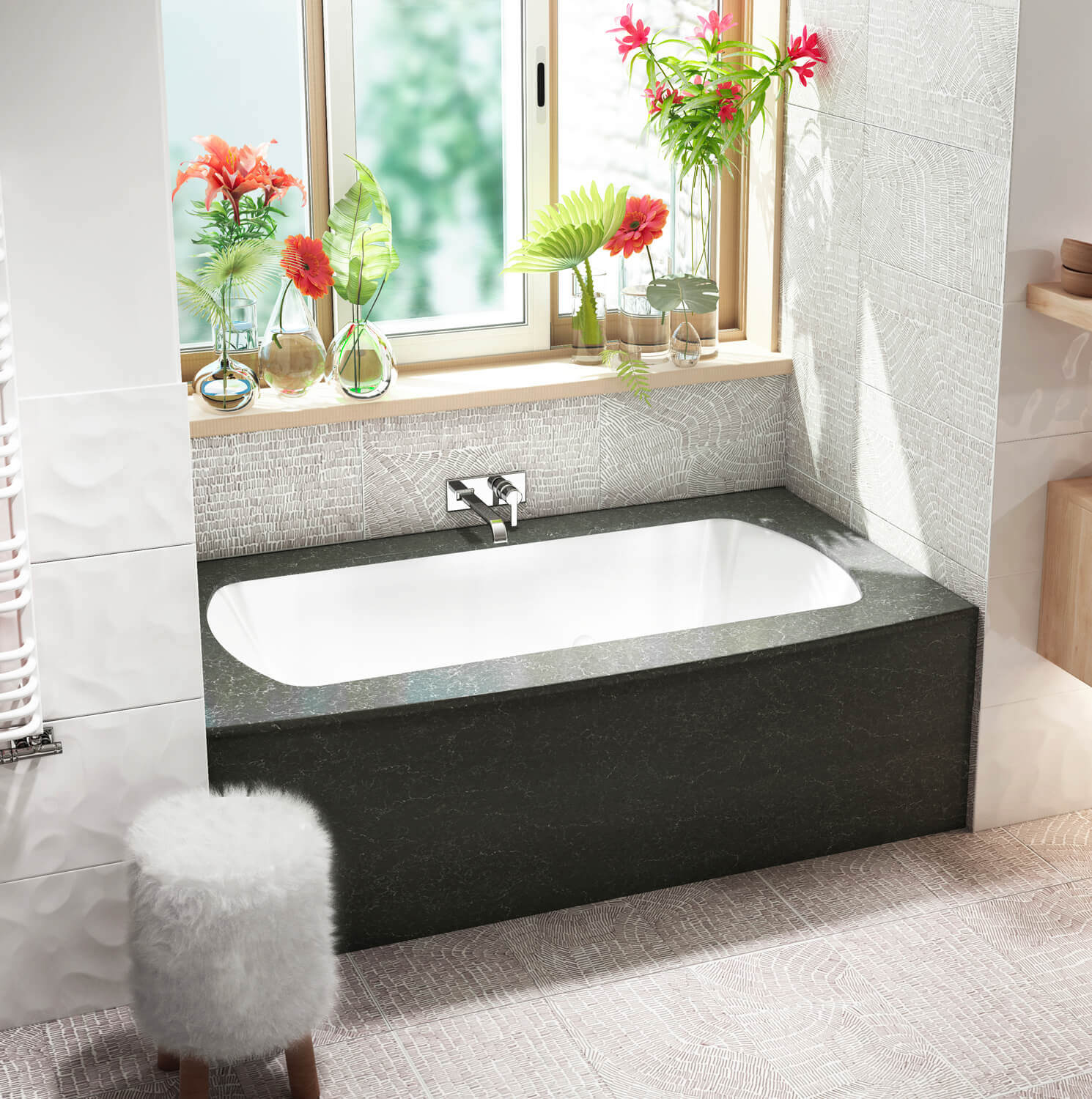 Monarch Grand Luxury 6638F air jet bathtub for your modern bathroom