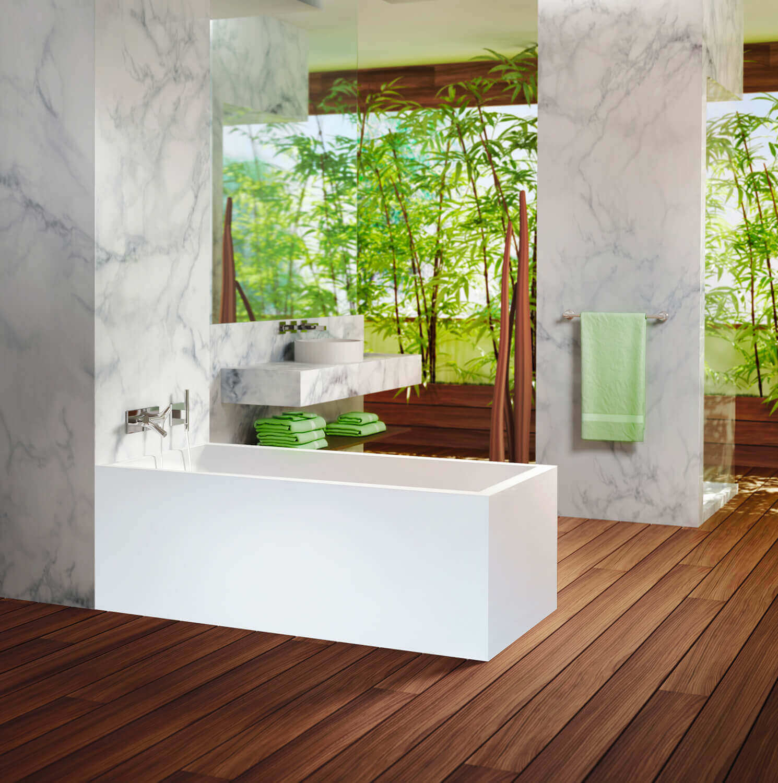 Bainultra Nokori™ 5827 freestanding air jet bathtub for your modern bathroom