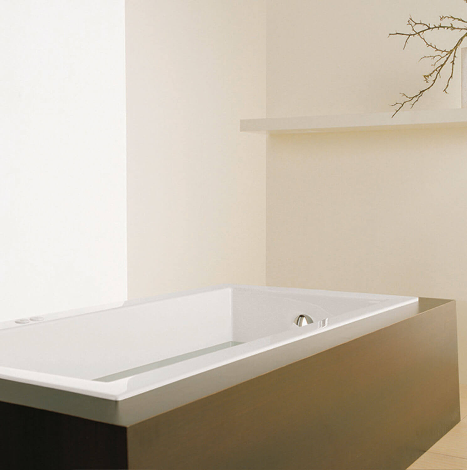 Bainultra Origami® 6636 Original Series alcove drop-in air jet bathtub for your modern bathroom