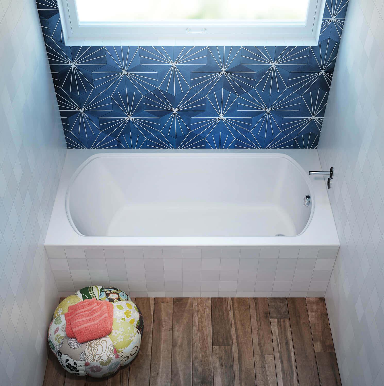 Bainultra Pro-Meridian 55 alcove drop-in air jet bathtub for your modern bathroom