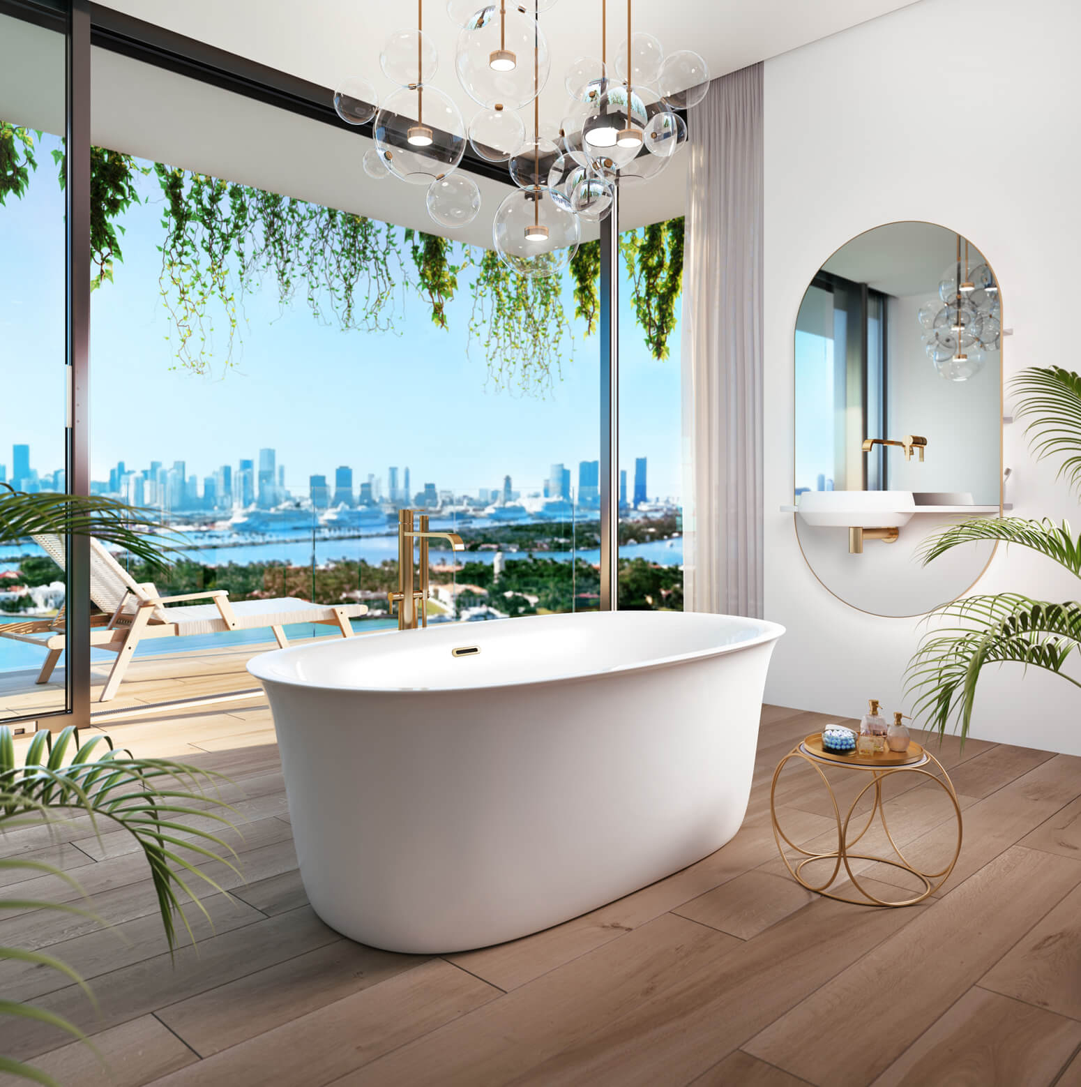 Bainultra Vibe Design 6033 freestanding air jet bathtub for your modern bathroom