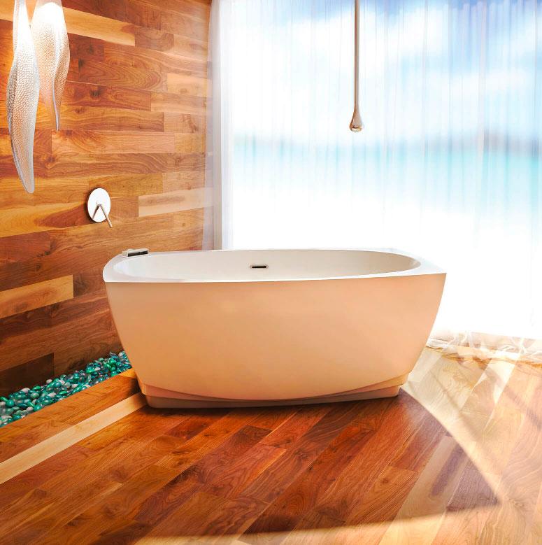 Bainultra Esthesia® freestanding air jet bathtub for your master bathroom