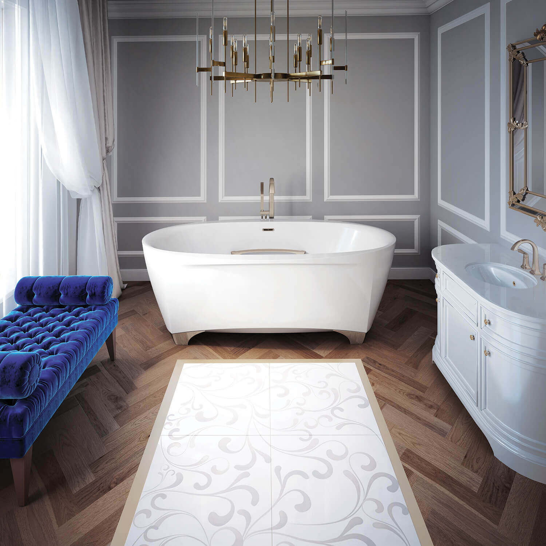 Scala 7242 air jet bathtub for your master bathroom
