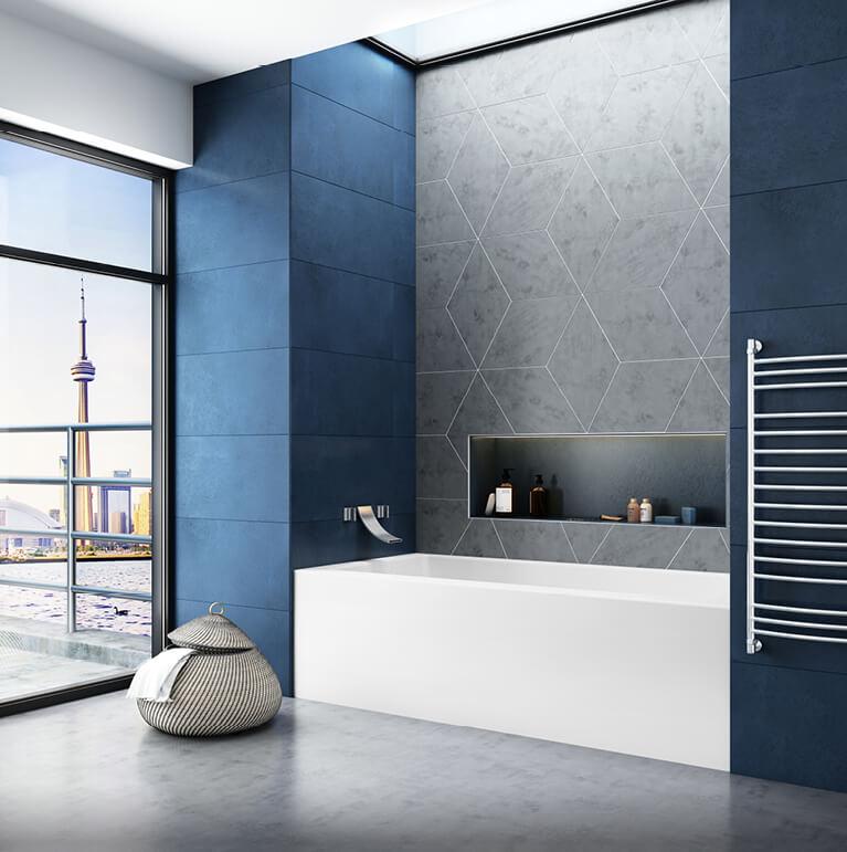 BAIN DE VILLE 6030 collection alcove air jet bathtub for your master bathroom