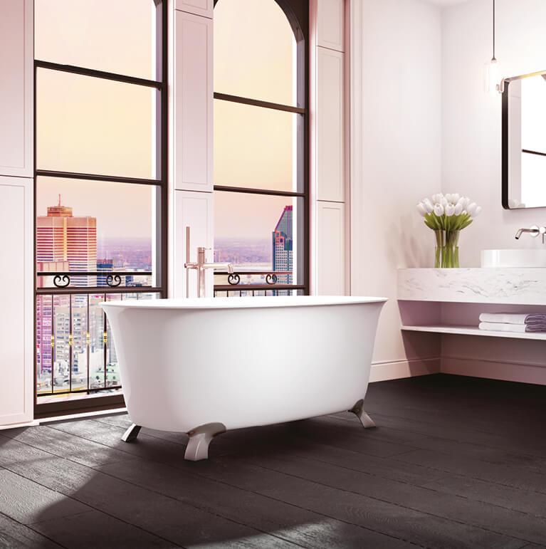 Bainultra Vibe Tulipa® 6033 Fresstanding air jet bathtub for your modern bathroom